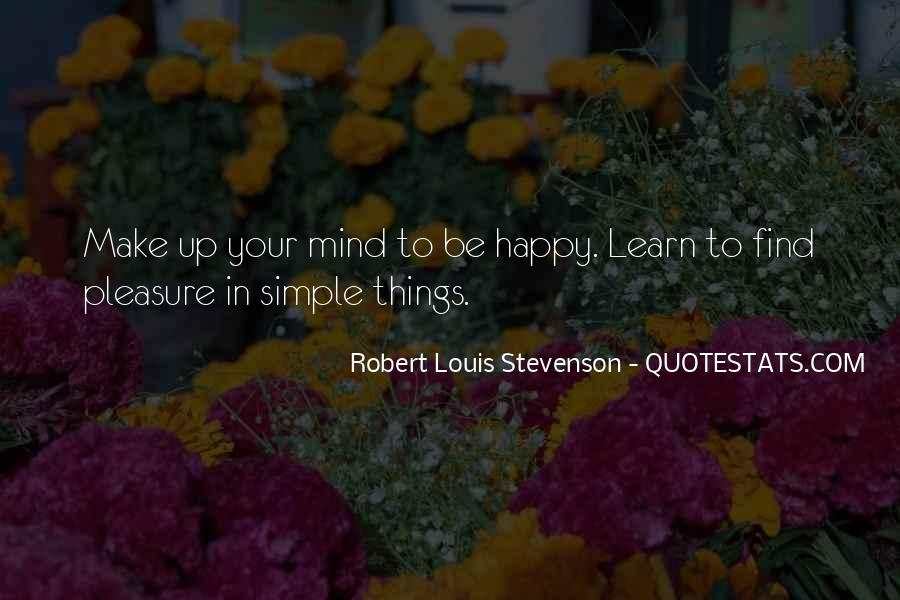 Simple Things Happy Quotes #454888
