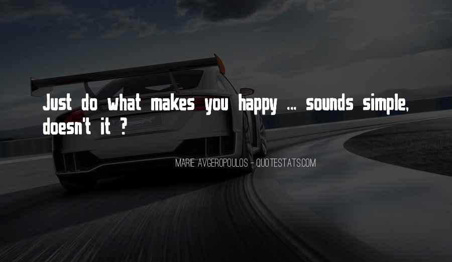 Simple Things Happy Quotes #474628