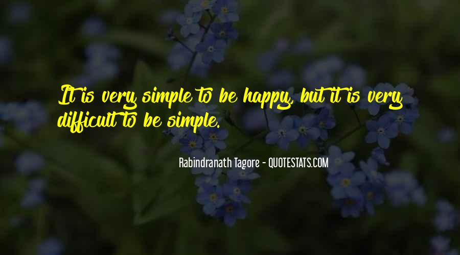 Simple Things Happy Quotes #649881