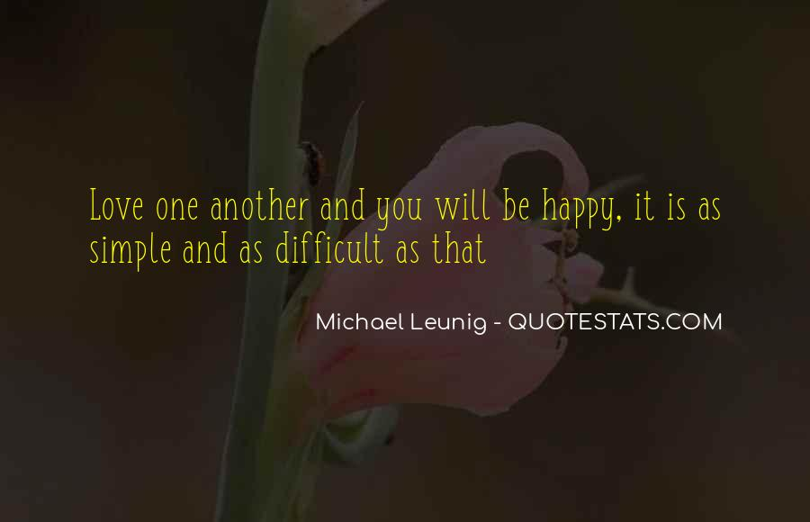 Simple Things Happy Quotes #66127