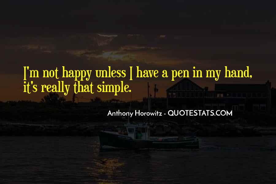 Simple Things Happy Quotes #721799