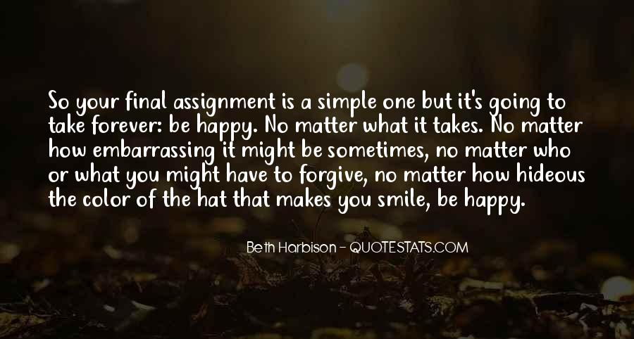 Simple Things Happy Quotes #857570