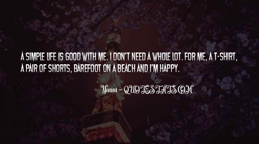 Simple Things Happy Quotes #867802
