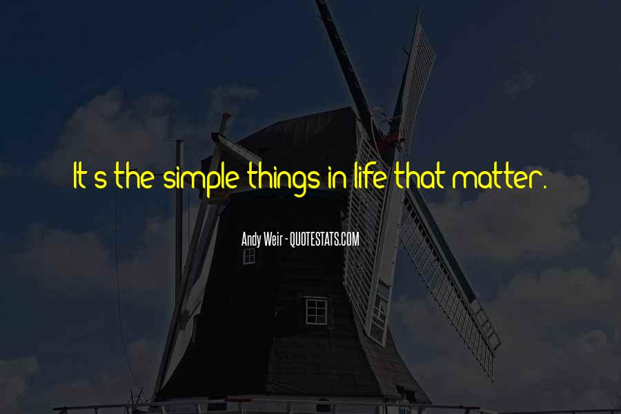 Simple Things Matter Most Quotes #296412