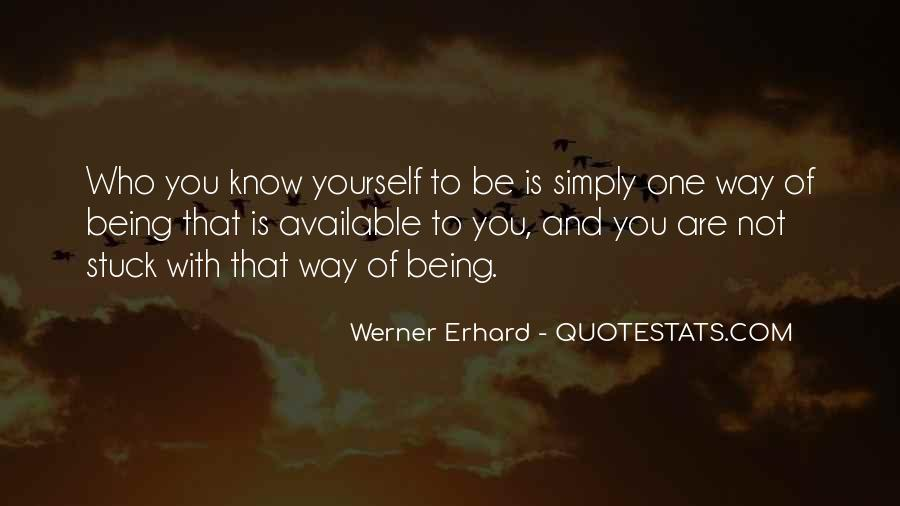 Simply Be Yourself Quotes #1708980