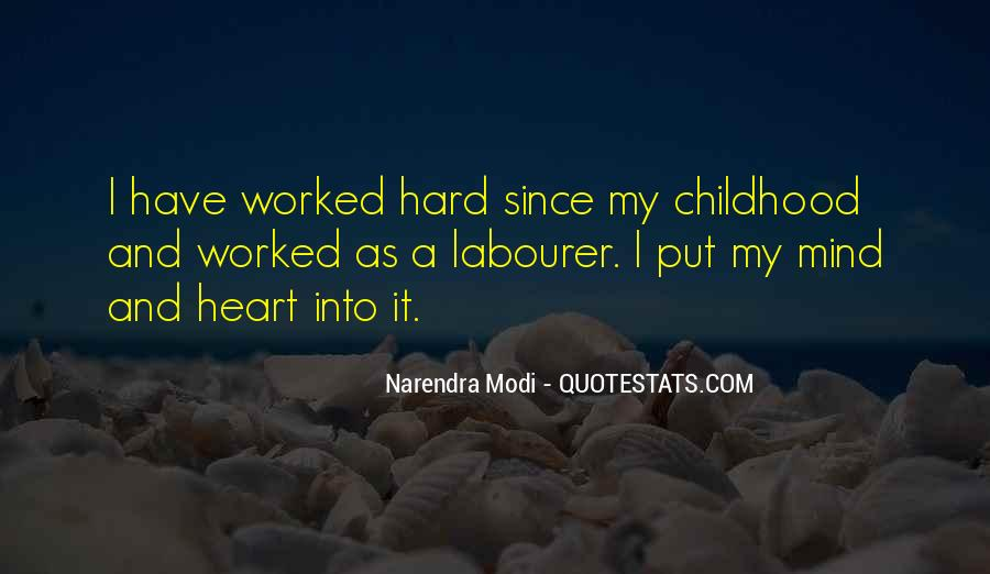 Since Childhood Quotes #603354