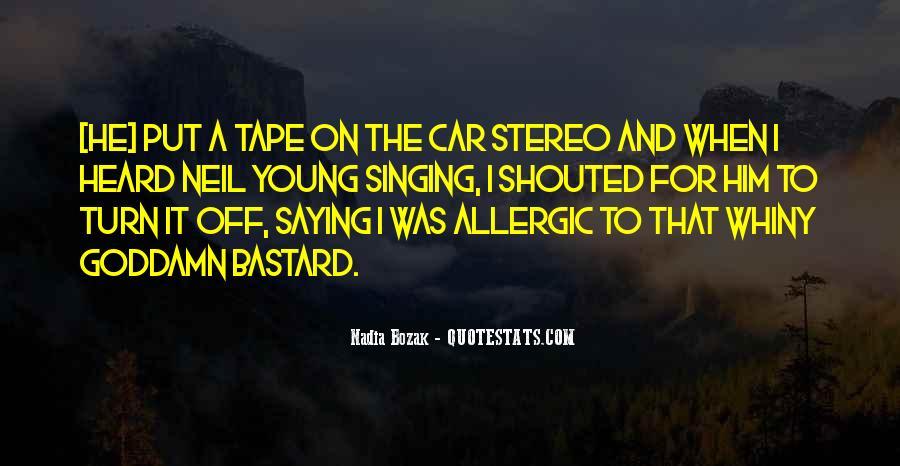 Singing In Car Quotes #1087475