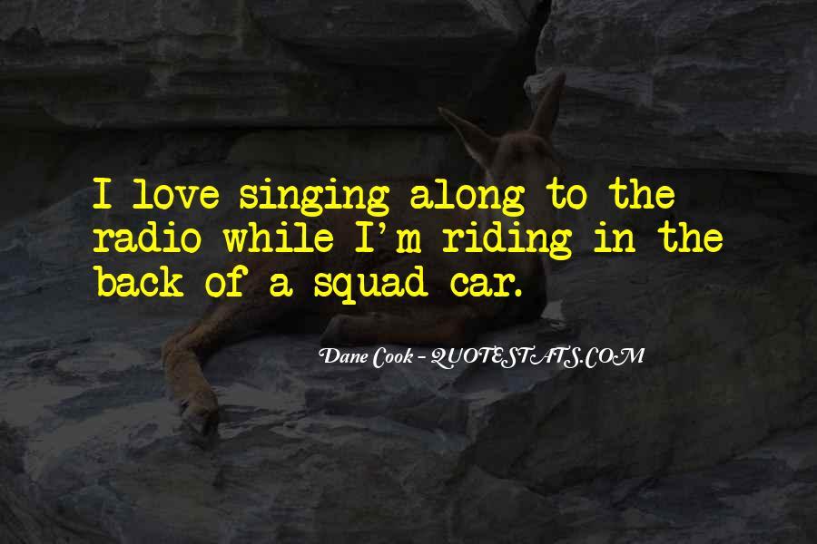 Singing In Car Quotes #1213075