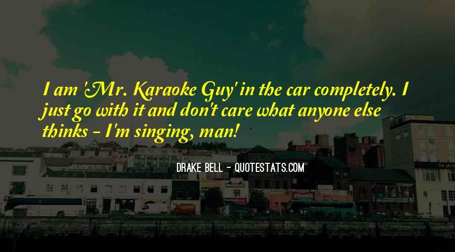 Singing In Car Quotes #1625447