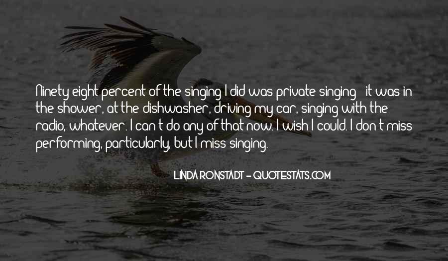 Singing In Car Quotes #583054