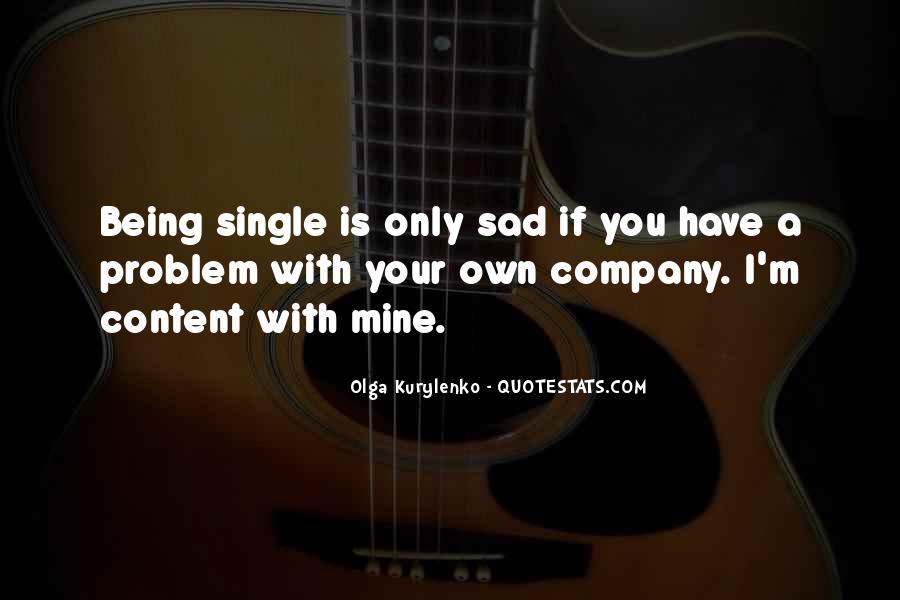 Single But Sad Quotes #271359