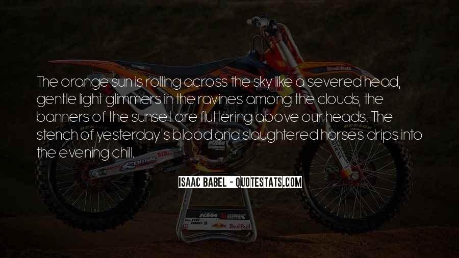 Sky Orange Quotes #1319016