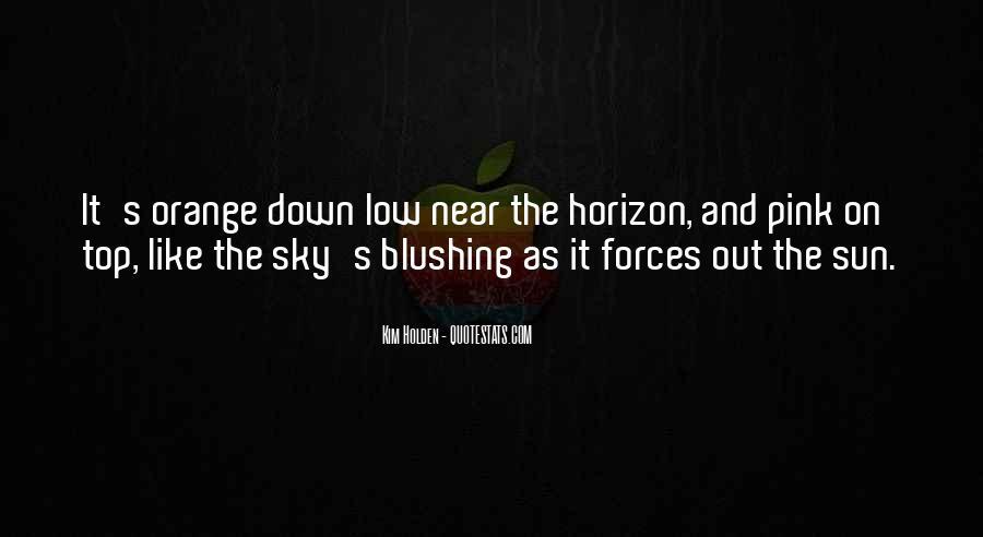 Sky Orange Quotes #38350