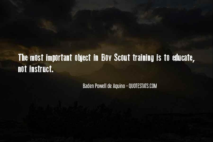 Quotes About Baden Powell #1261892