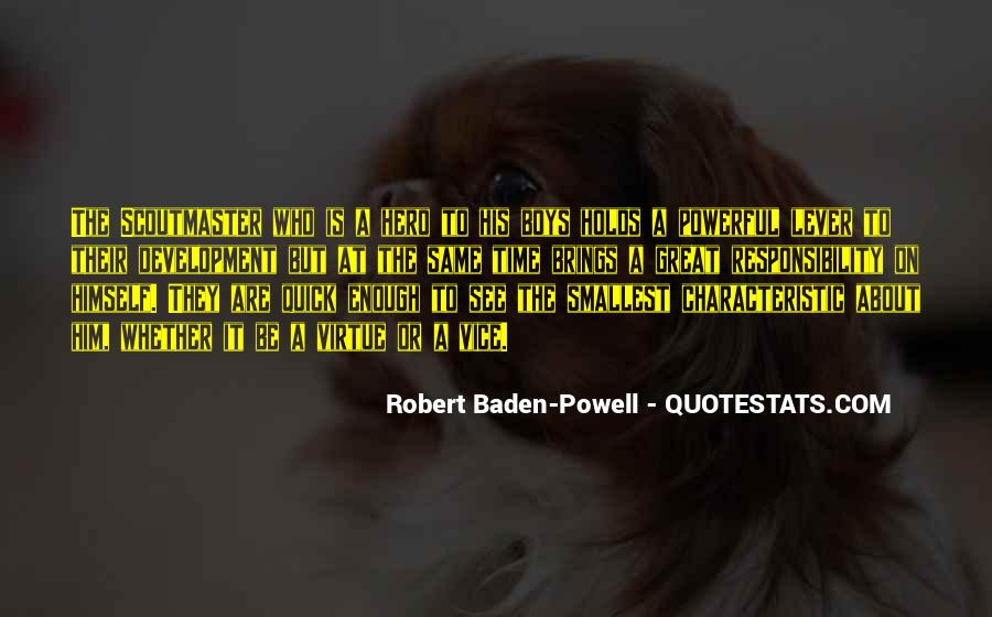 Quotes About Baden Powell #1477095