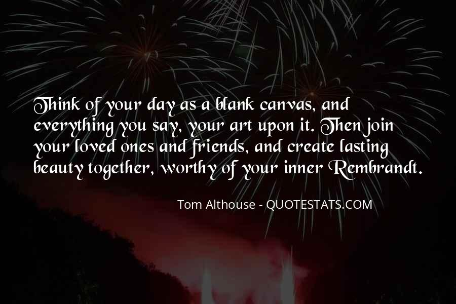 Quotes About Art Canvas #231405