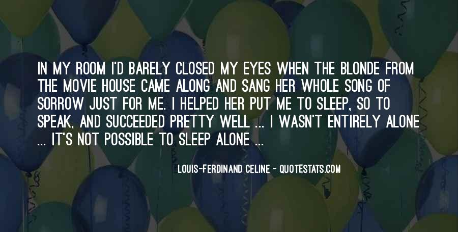 Sleep Song Quotes #1337813