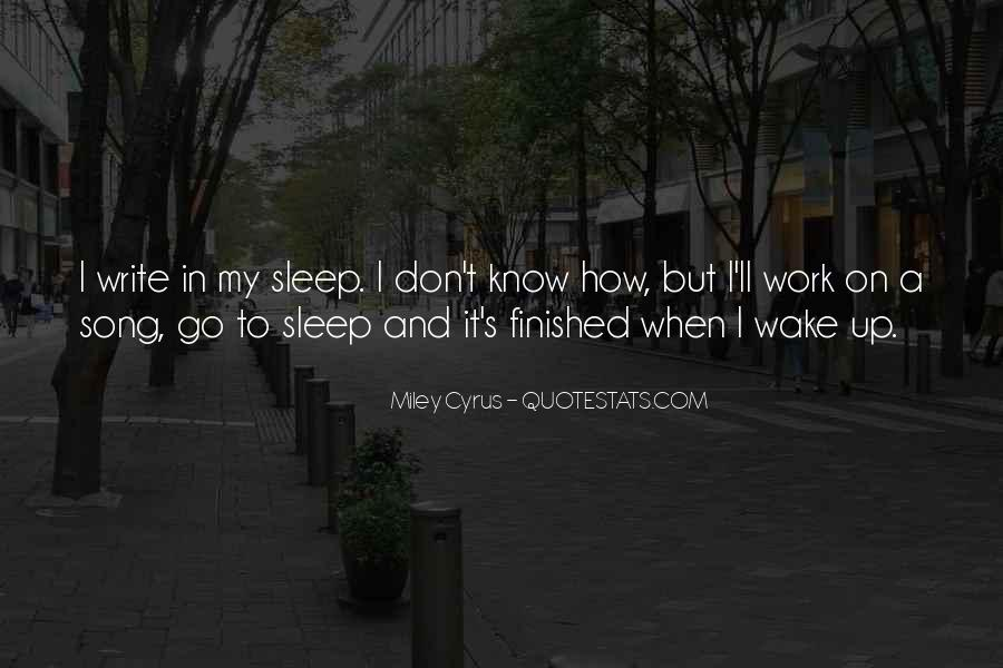 Sleep Song Quotes #213179