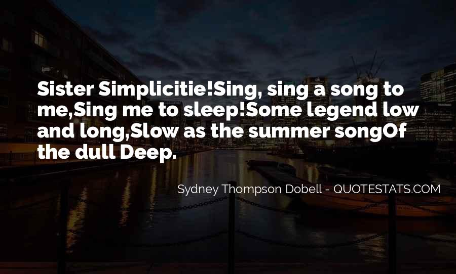 Sleep Song Quotes #325187