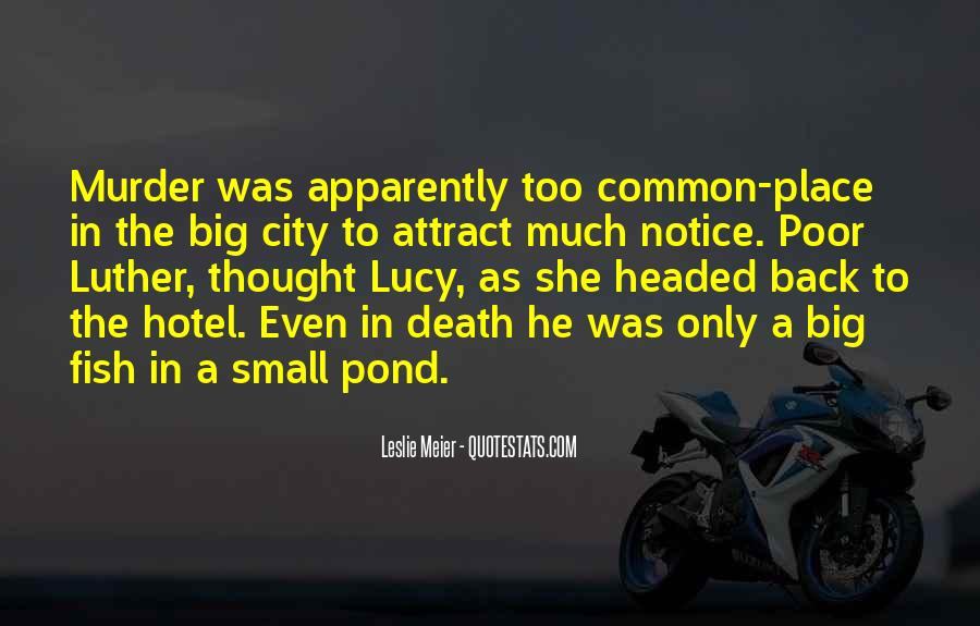 Small Town Vs. Big City Quotes #863512