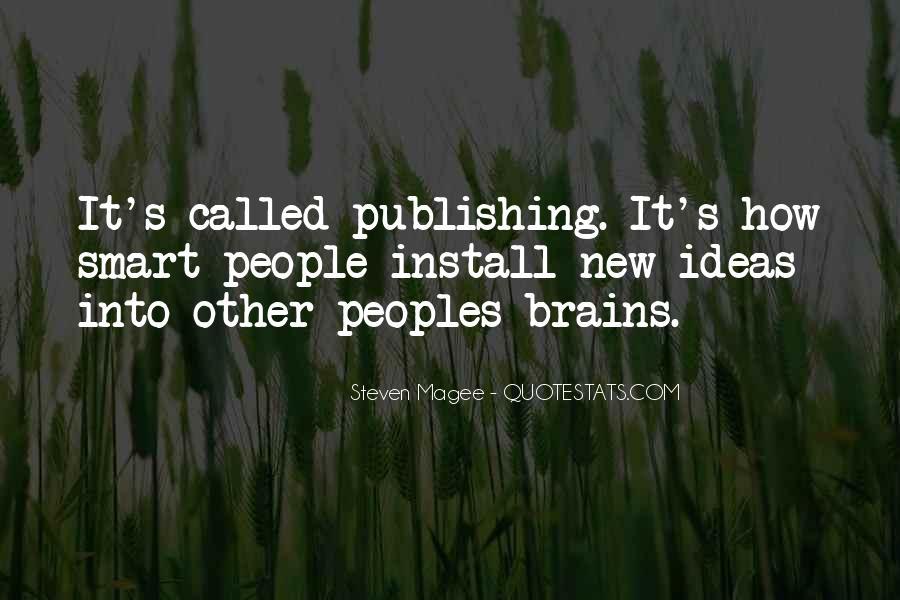 Smart Brains Quotes #1350777