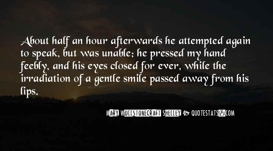 Smile Eyes Closed Quotes #123878