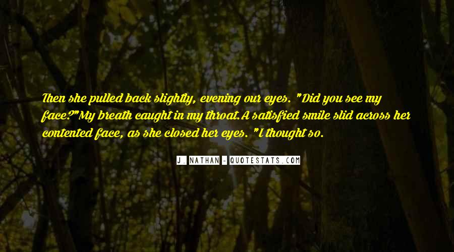 Smile Eyes Closed Quotes #1590987