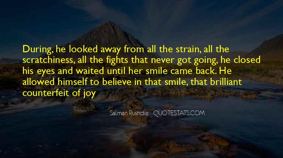 Smile Eyes Closed Quotes #456135