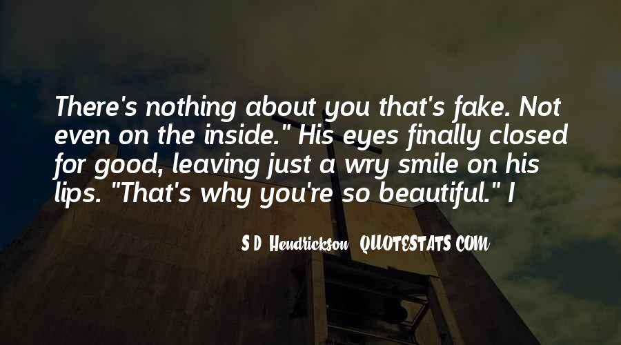 Smile Eyes Closed Quotes #77480