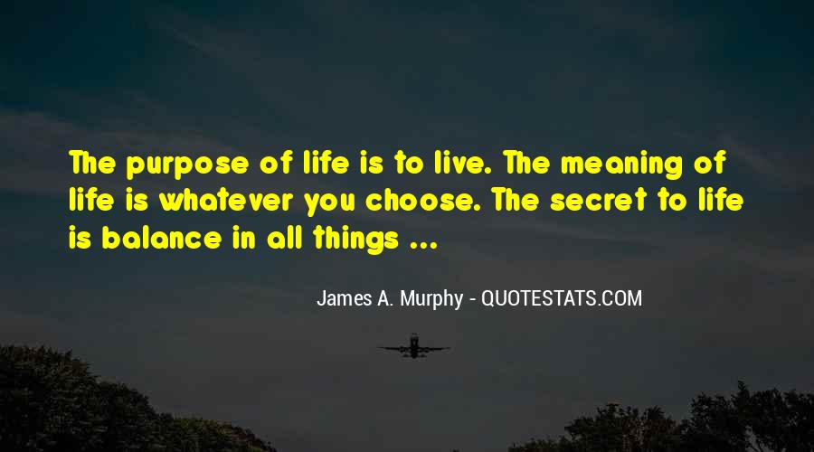 Quotes About A Life Of Purpose #48143