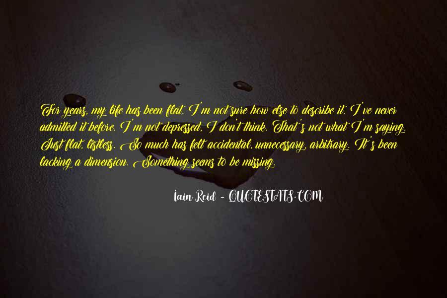 So Depressed Quotes #1335814