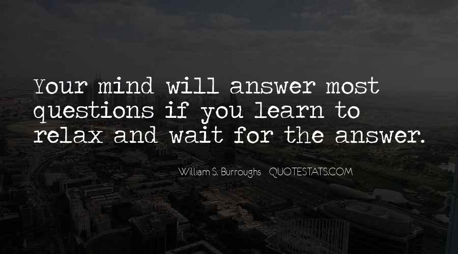 So Many Questions In My Mind Quotes #326074