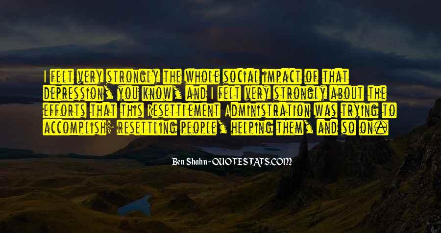 Social Impact Quotes #516268