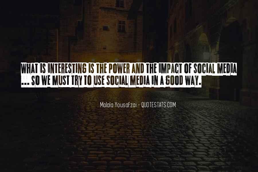 Social Impact Quotes #690367