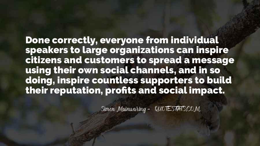 Social Impact Quotes #787851