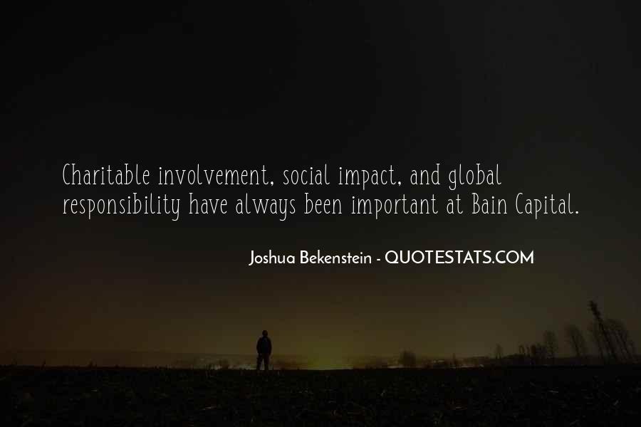 Social Impact Quotes #876865