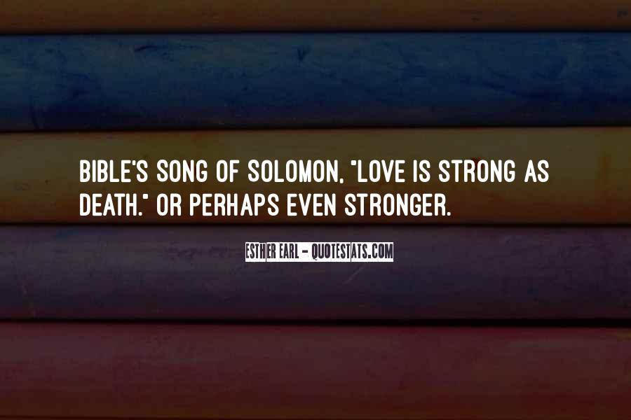 Solomon Love Quotes #115086