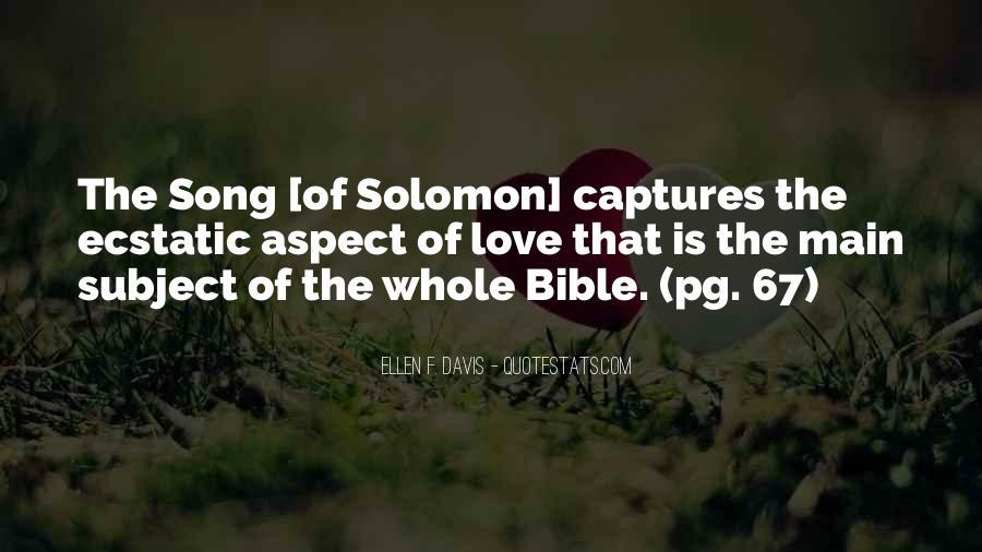 Solomon Love Quotes #1309736