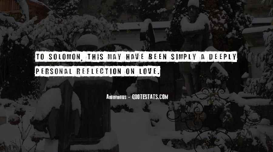 Solomon Love Quotes #1775856