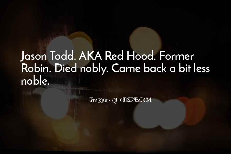 Quotes About Jason Todd #1034832
