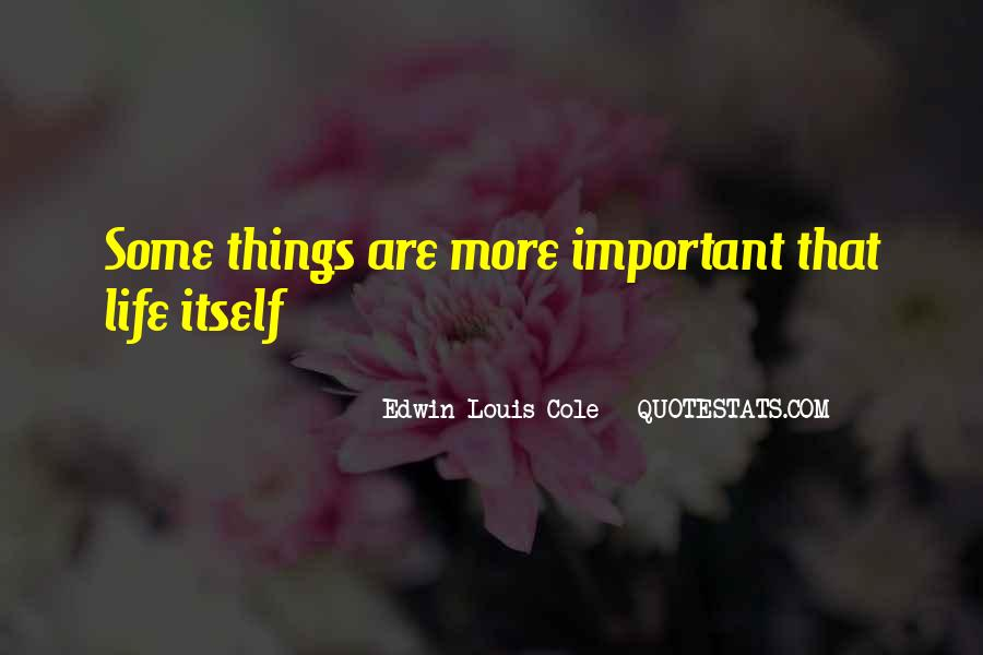 Some Things Are More Important Quotes #355864