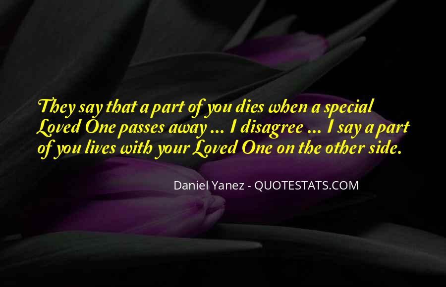 Someone Special Dies Quotes #510137
