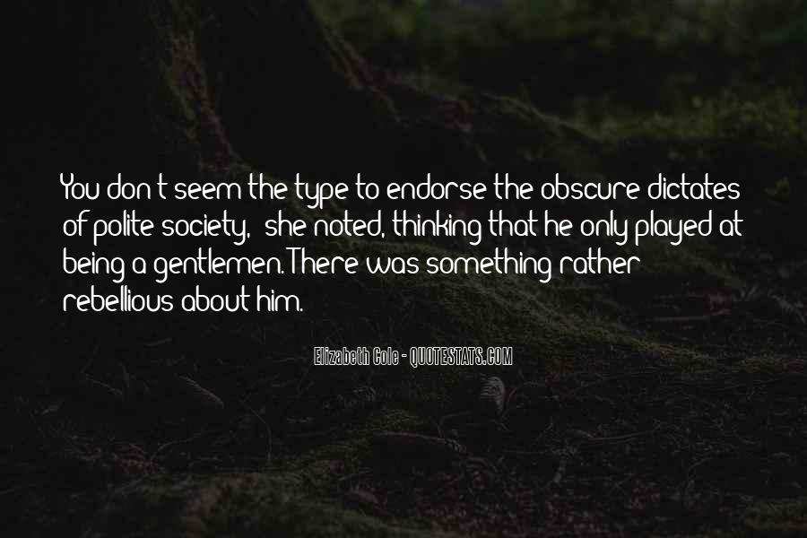 Something About Him Quotes #24800