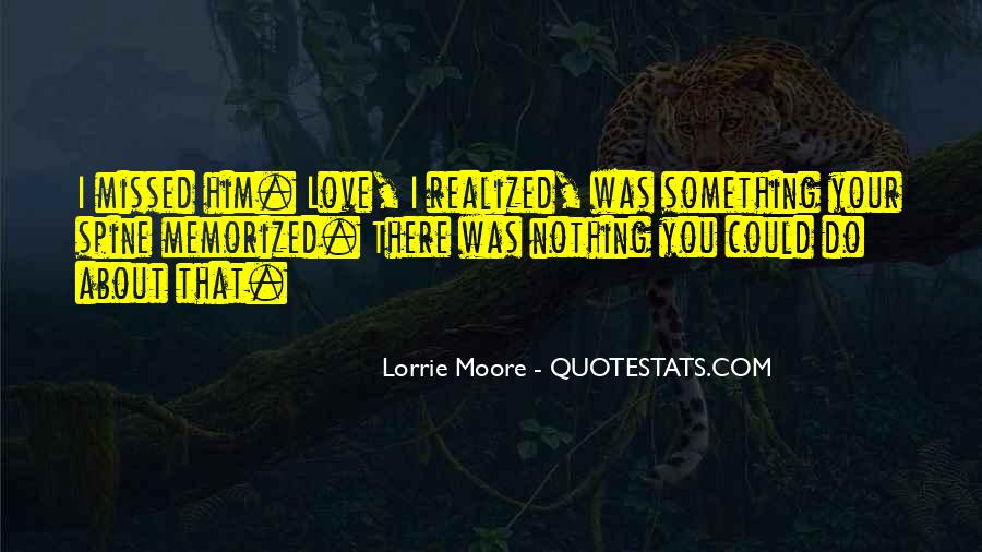 Something About Him Quotes #311571