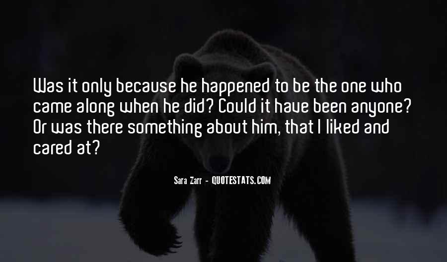 Something About Him Quotes #343182