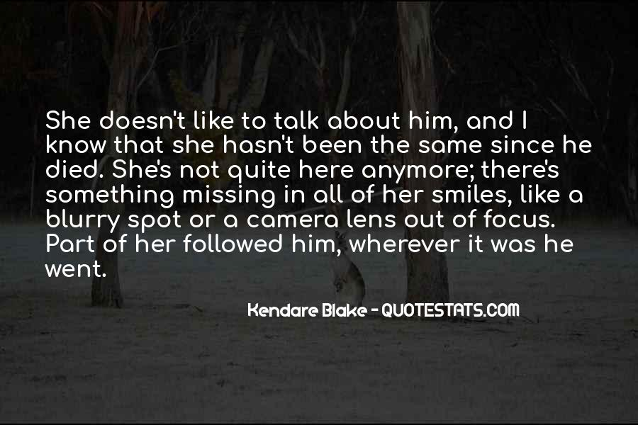 Something About Him Quotes #416774