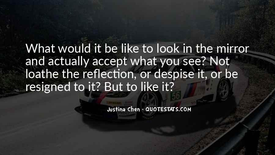 Sometimes I Look In The Mirror Quotes #70479