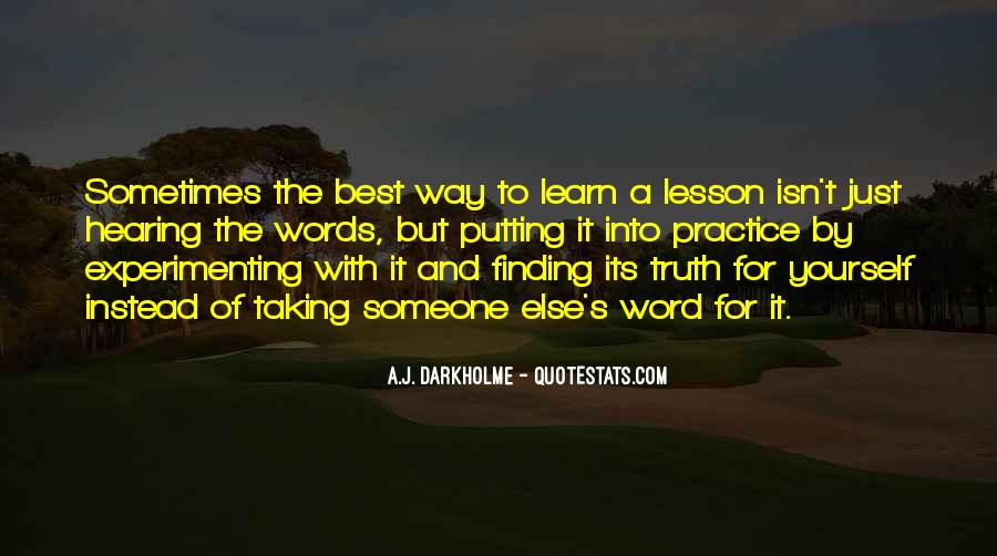 Sometimes It's Best Quotes #1050846