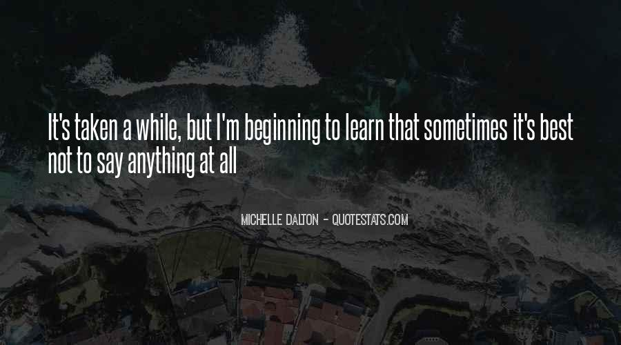 Sometimes It's Best Quotes #821451