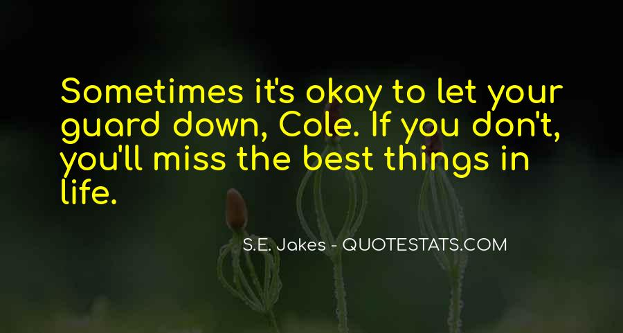 Sometimes The Best Things Quotes #177916